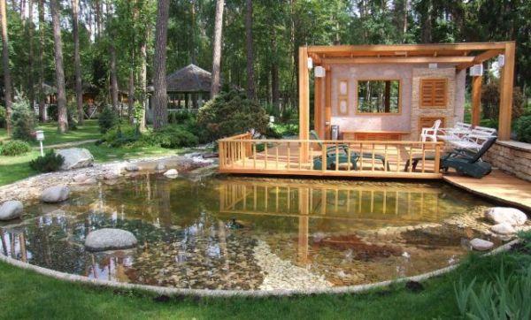 Декоративные водоемы в саду требуют ухода и очистки воды