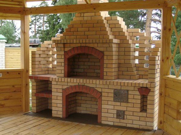 Печь барбекю для организации беседки на даче
