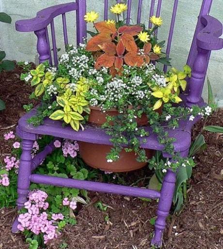 стульчик клумба