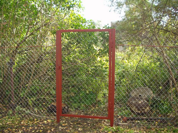 Забор калитка из рабицы