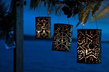 светящиеся фонарики - фантастическая идея для дачи