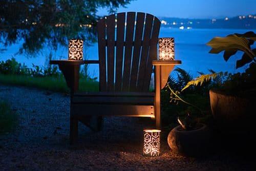 превосходная идея для вечернего освещения дачи
