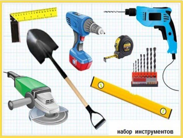 Инструменты для монтажа калитки